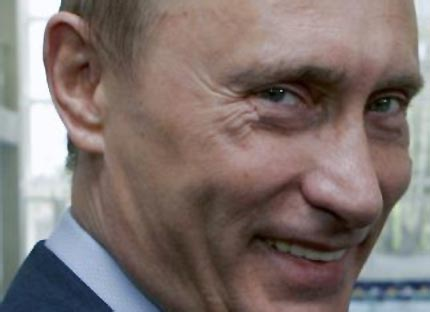 Vladimir Putin, looking eeeeevil...
