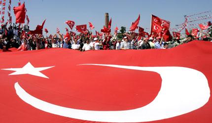 Turkish nationalist supporters