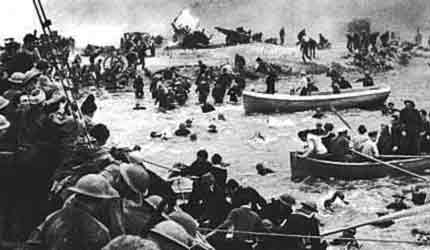All boats available came to help with the rescue.http://jcm.org.uk/pics/dunkirk.jpg